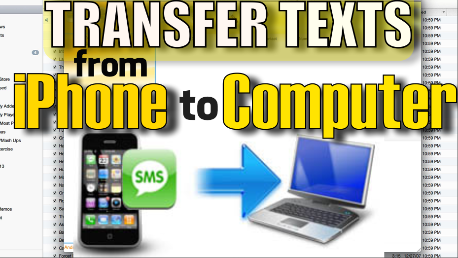 How to Transfer Text Messages from iPhone to Computer (PC