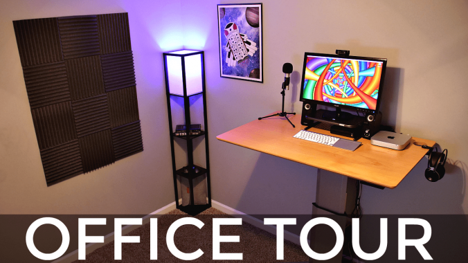 Standing Desk Setup + Office Tour!